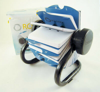 ROLODEX 66704 Open Rotary Card File with 500 Cards New