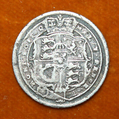KM# 665 - Sixpence - 6d - Silver (.925) - George III - Great Britain 1816 (F)