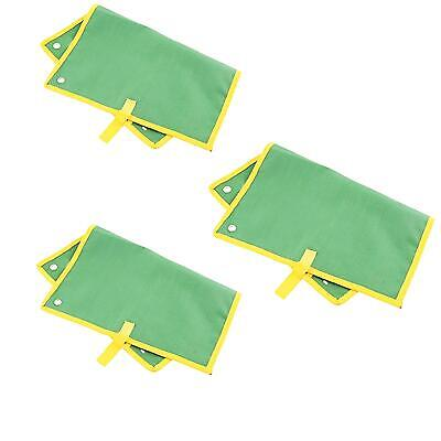 3 X Canvas 12 Pocket Spanner Wrench Holder Tool Roll Up Storage Bag Case Pouch