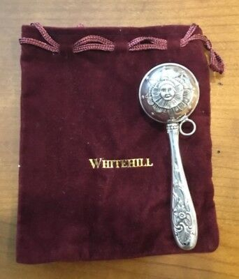 Whitehill Baby Silverplated Rattle, Perfect Baby Shower or Baptism Gift