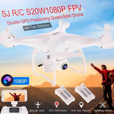 SJ R/C S20W1080P(GPS) FPV 1080P HD Camera Altitude Hold Drone w/ Two Batteries