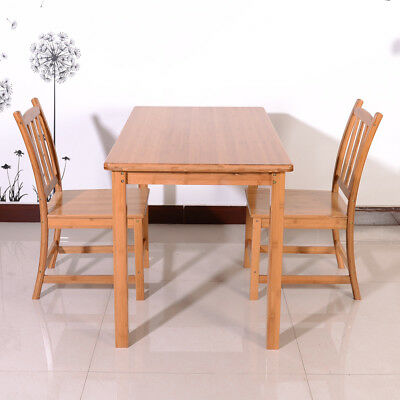 New Kitchen Bamboo Dining Table Set Wood Kitchen Room Breakfast Furniture