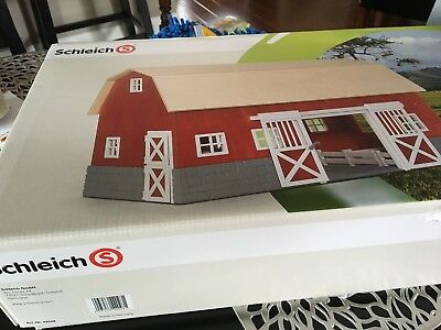 Big Red Farm Barn Horse Stable Ranch COLLECTIBLE DISCONTINUED Schleich 42028