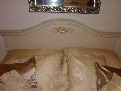 Louis French Shabby Chic style Solid Wood Double Bed Headboard -  FROM NEXT.