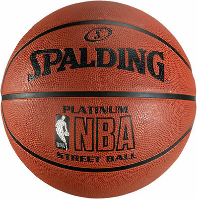 19470324, Spalding Basketball Gr. 7 NBA Platinum Outdoor SZ.7 orange, 83-057Z