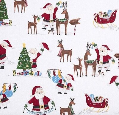 Pottery Barn Kids Jolly Santa Baby Flannel Crib Fitted Sheet