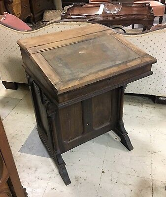 Antique 1800's Davenport Desk Ship's Captain Desk