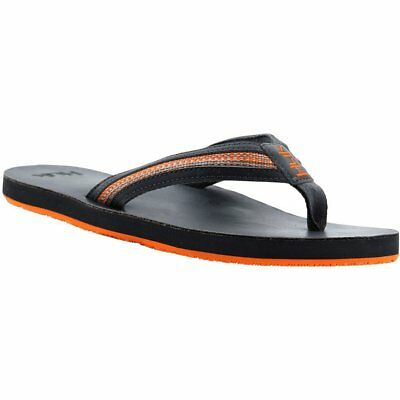 47b55bc3044 NEW Huk H8331000 CARUSO Flip Flop 010 Charcoal Gray Leather GripX Bottom  Size 12