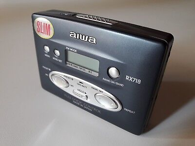 Walkman Radio Stereo Cassette Player  Autoreverse Aiwa Hs-Rx718 Japan