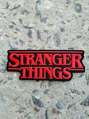Stranger Things Logo Iron on / Sew on Patch Badge Retro Season 3 TV 80's Eleven