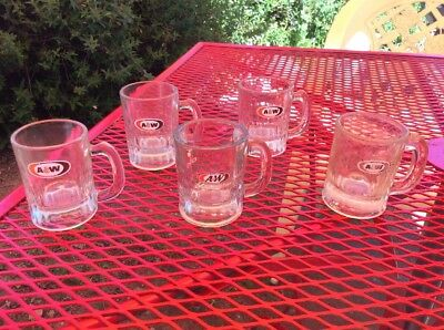 Vintage A & W Root Beer Mini Glass Mugs