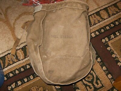 """2 Vintage  """" Lineman Tool """" Bell System B"""" Pouches"""
