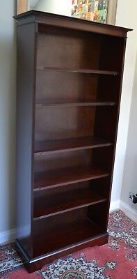 "Antique Style Tall Mahogany Open Bookcase Bookshelf Shelves 74"" H By Brights (1)"