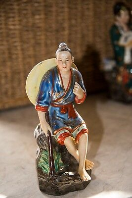1 Oriental ceramic Figurine - fine detail and paintwork.
