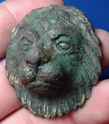 Ancient Roman Bronze Artifact Head of the Lion.