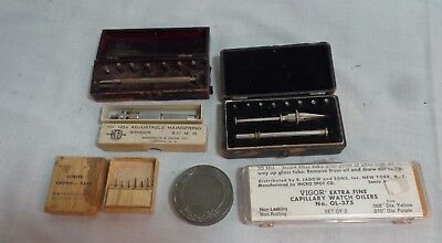 Selection of Six Vintage Watchmaker's Tools & Accessories Mainspring Winder etc.