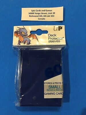 ( BLUE Yu-Gi-Oh Sleeves ) - 60ct Small Size Deck Protectors - Ultra Pro Vanguard