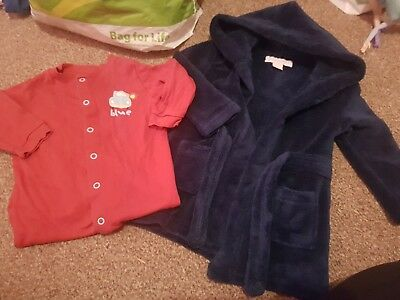 boys 6-9 months dressing gown and babygrow