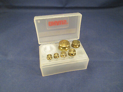 Vintage OHAUS Scale Calibration Weights Set in Case   MK1