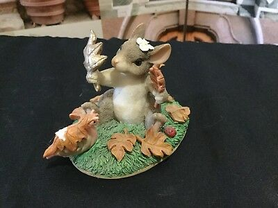 "Charming Tails Figurine 1998 ""Maxine's Leaf Collection"" 98/701"