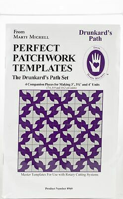 Marti Michell Perfect Patchwork Template-Small Drunkard's Path 4/Pkg