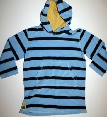 MINI BODEN Toweling Beach Cover up terry cloth yellow hood Boys 7-8 years