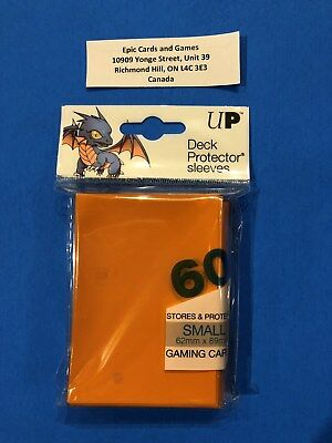 ( ORANGE Yu-Gi-Oh Sleeves ) 60ct Small Size Deck Protectors - Ultra Pro Vanguard