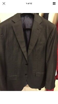 Suitsupply Nwt 38 L / 38L Dark Gray 2 Button Dual Vents Charcoal Fits 40R