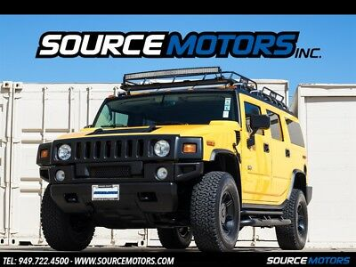 H2 Luxury SUV 2003 Hummer H2 Luxury, Leather, Blacked Out, Roof Rack, Light Bar 3rd Seat