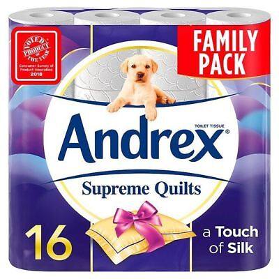 Andrex Supreme Quilts Toilet Tissue 16 per pack