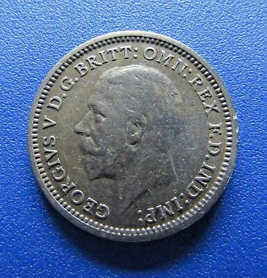 Great Britain 1935 3 Pence - .5 Silver - FREE DOMESTIC SHIPPING