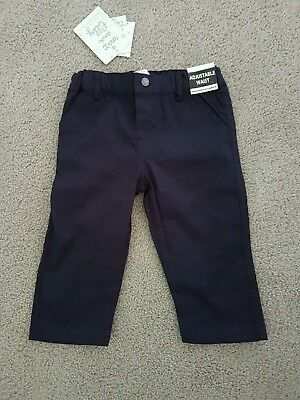 Baby boys navy cotton drill pant size 0