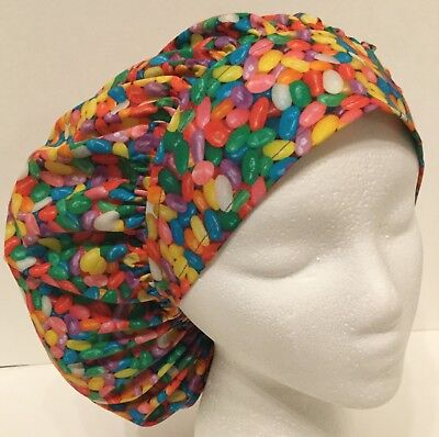 Easter Jelly Beans Size Large Medical Bouffant OR Scrub Cap Surgery Hat