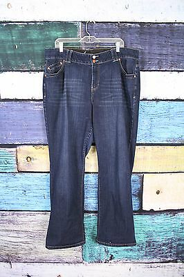 Lane Bryant Dark Wash Stretch Tighter Tummy Technology Bootcut Jeans Plus 20 Avg