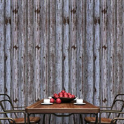 Wallpaper 3d Wood Grain Barn Roll Wall Background Art Home Decor Retro Vintage