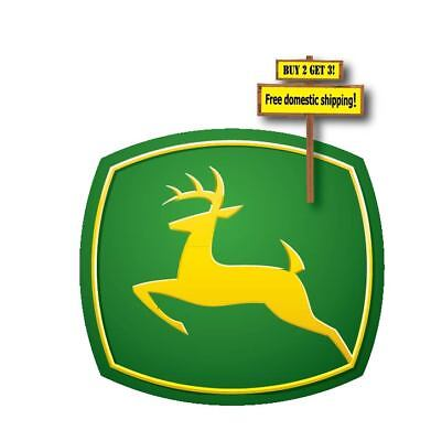 John Deere Logo Decal sticker green and yellow die cut 3.25x3.5 p160