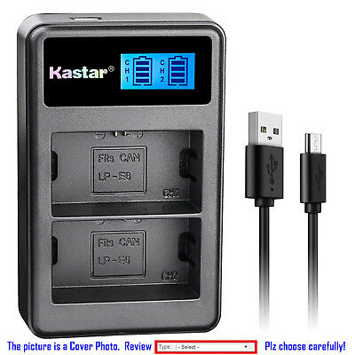Kastar Battery LCD Dual Charger for Canon LP-E6N LC-E6E & Canon EOS 7D Mark II