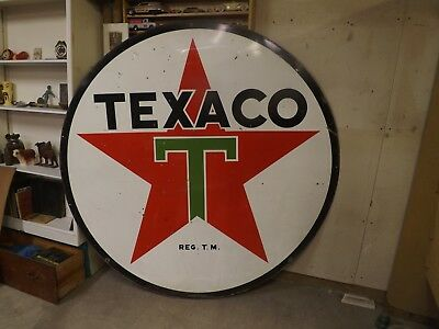 Large Vintage Texaco sign dated 1955. GREAT SHAPE NO RESERVE