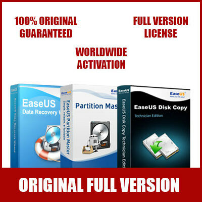 EaseUS Complete Bundle - Data Recovery Wizard + Partition Master + Disk Copy