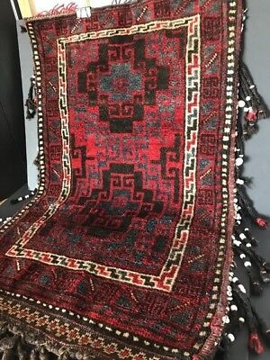 Old Turkish Hand Knotted Camel Bag / Cushion Cover / Rug …beautiful accent piece