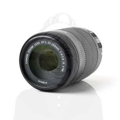 Autentico Canon EF-S 55-250mm f/4-5.6 IS STM Telephoto Zoom Lens (White Box)