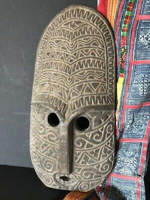 Old Sumatran Hand Carved Wooden Mask (a) …beautiful collection / accent piece