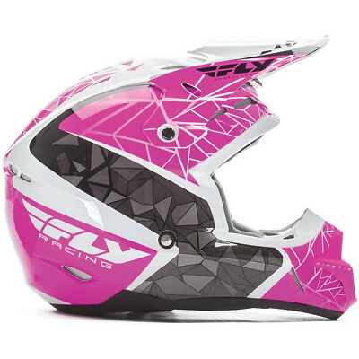 Fly Racing 2017 Mx NEW Kinetic Crux Pink White Black Dirt Bike Motocross Helmet