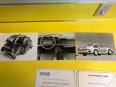 Porsche 959 Full press release French. Super Rare!!! With press release photos