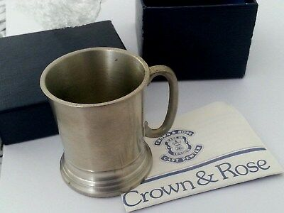Pewter miniature tankard with certificate by Crown & Rose ,with box, collectors