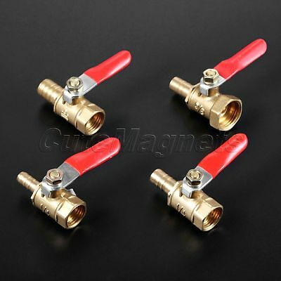 "1pc High Quality Ball Valve Lever Handle 1/4"" 3/8"" Female to 6-10mm Hose Barb"