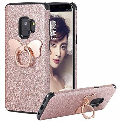 Galaxy S9 Case Shock Absorbing TPU Rubber Cover for Samsung Galaxy S9-Rose Gold