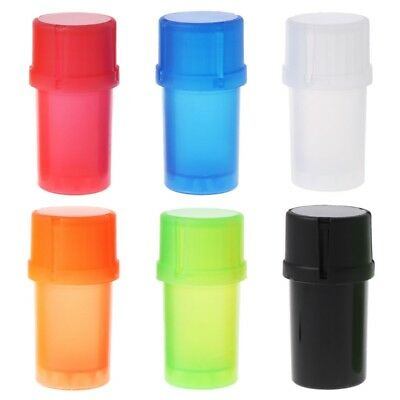 40MM Mill Plastic Herb Grinder Crusher Can Tobacco Storage Case 3 Parts Spice