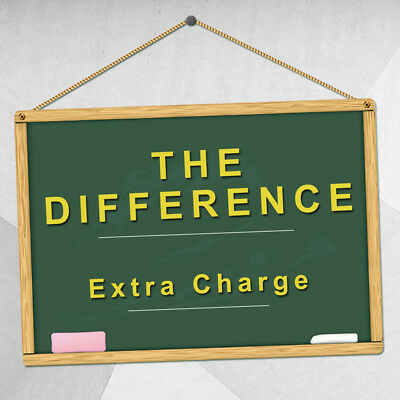 The Difference Extra Charge For Price Postage Resend Or Others