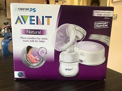 Philips Avent Natural Single Electric Breast Pump - Excellent used condition
